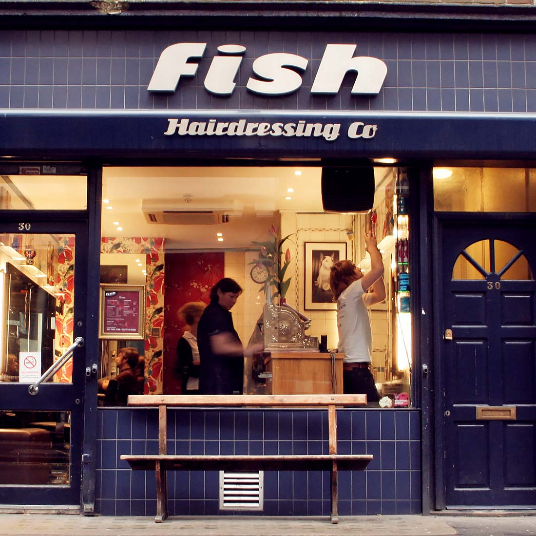 Fish Hairdressing in Soho, London