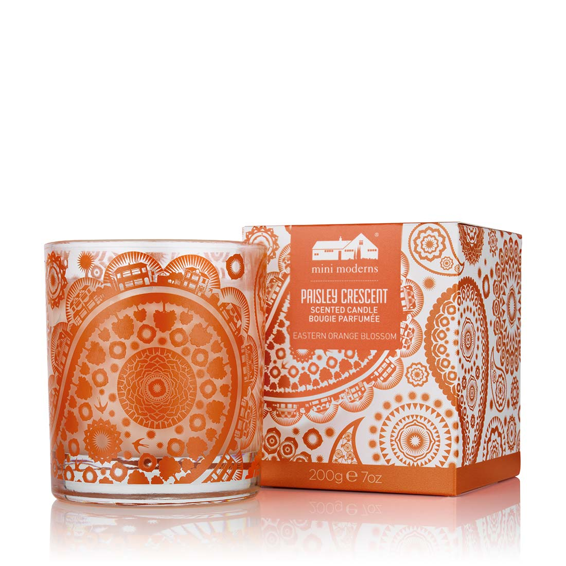 Paisley Crescent Candle