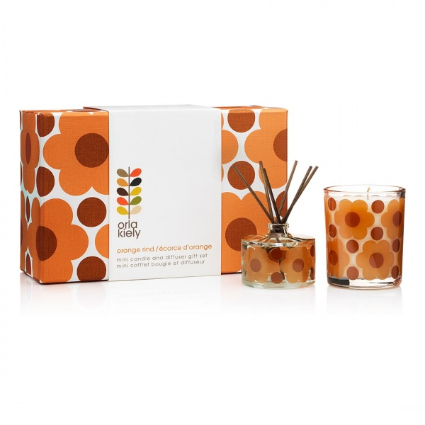 Orla Kiely Orange Runs Candle and Diffuser Gift Set