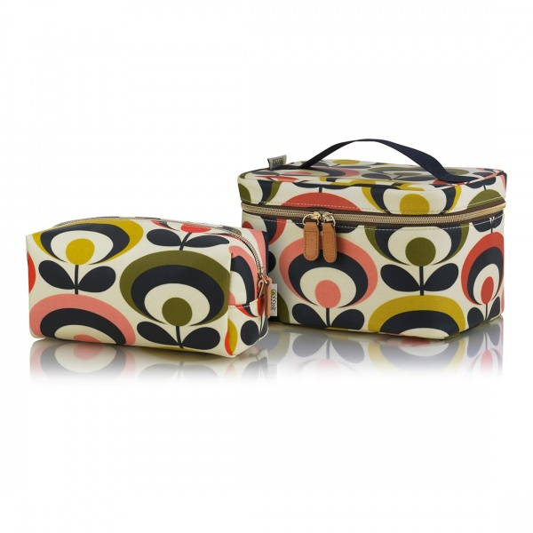 Orla Kiely Train Case and Large Cosmetic Bag