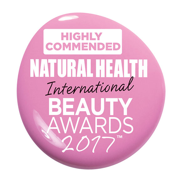 Highly Commended Natural Health International Beauty Awards 2017