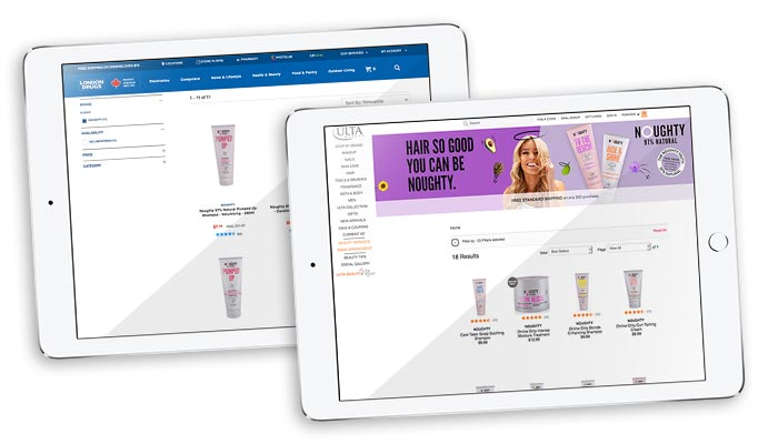 Noughty launches in London Drugs and Ulta